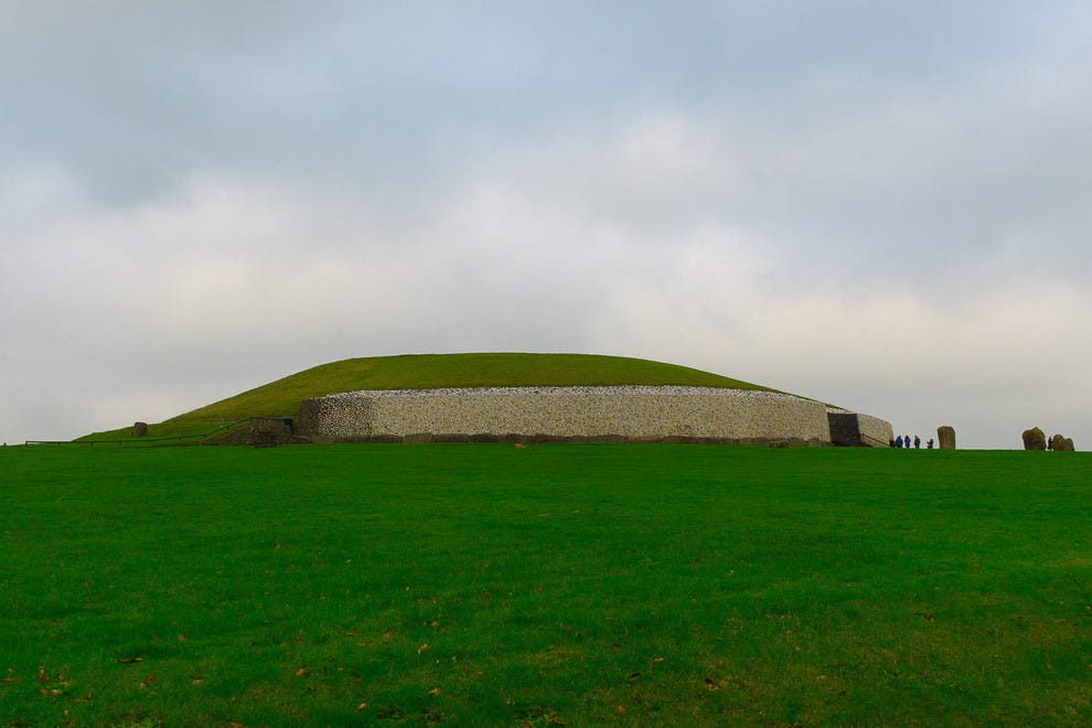 Newgrange passage tomb was built 5,000 years ago.