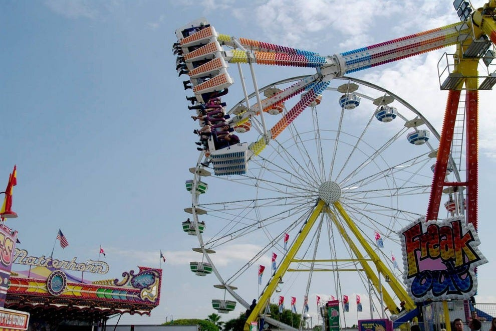 So many rides to choose from at the Miami-Dade County Fair