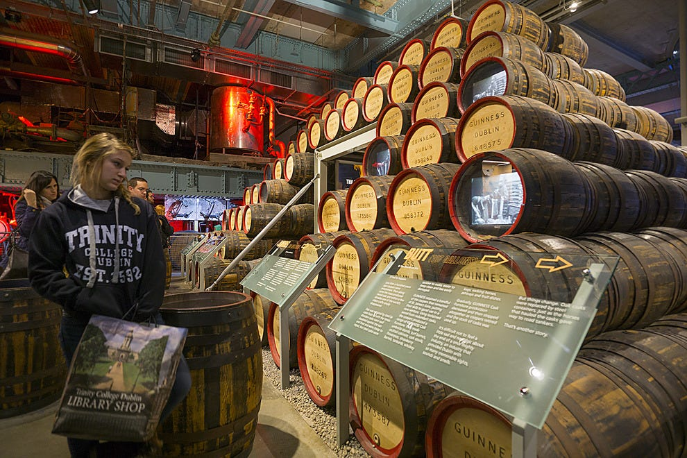 The Guinness cooperage display