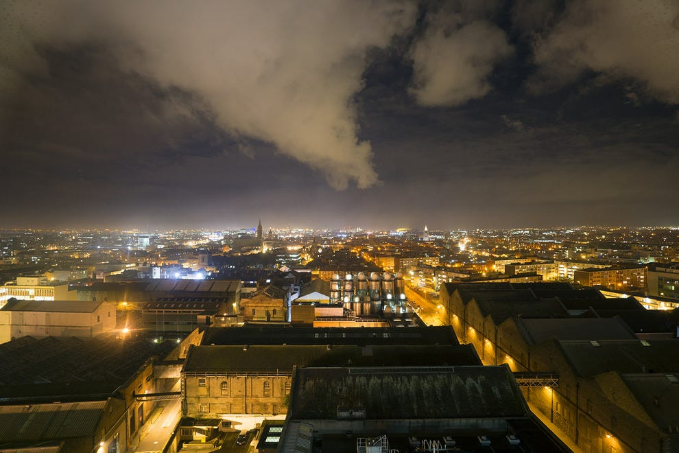A view of Dublin from the Gravity Bar