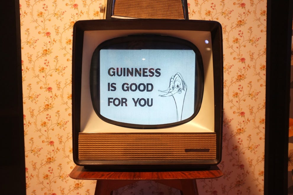 An early Guinness TV commercial
