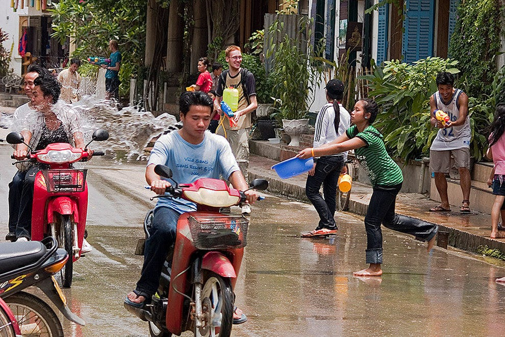 Dousing traffic at Songkran