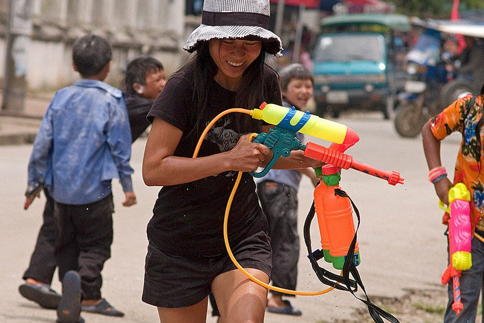 Armed and ready at Songkran