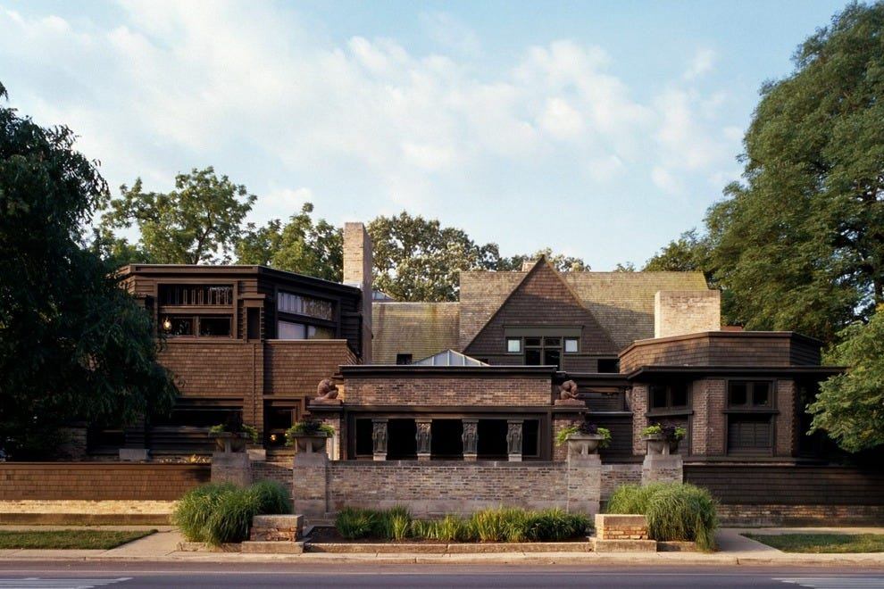 frank lloyd wright home and studio in oak park photo courtesy of frank