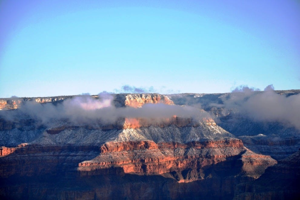 The views from the Grand Canyon's South Rim are ever-changing