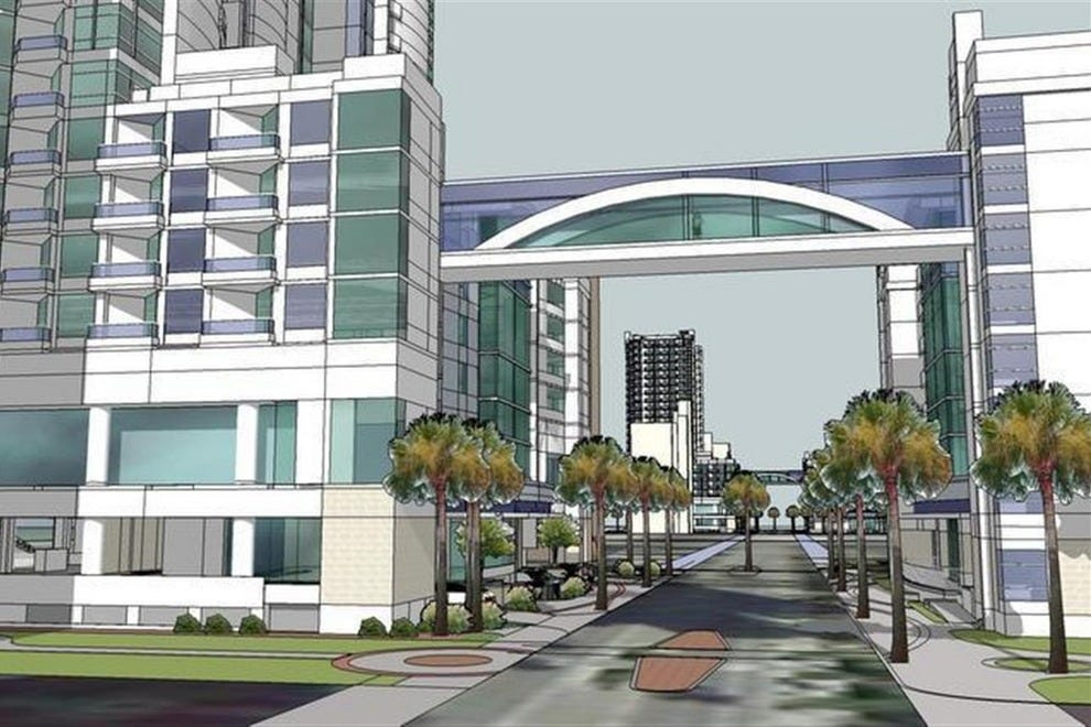 An artist's rendering of the forthcoming Myrtle Beach resort, hold the crosswalk