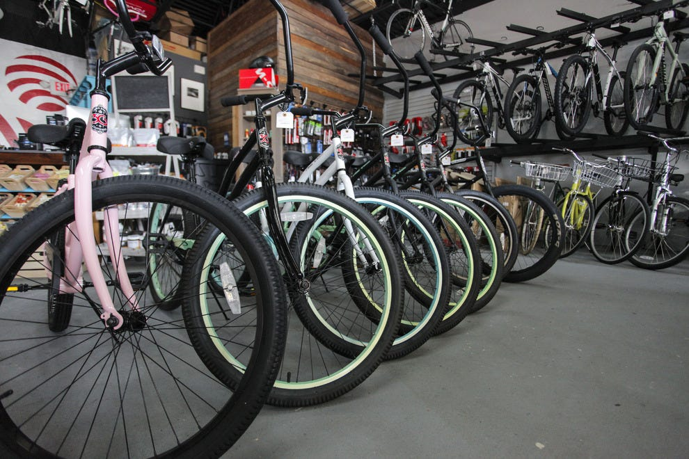 Beach cruiser purchases make up half of Open Road Bicycles' business
