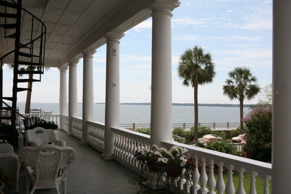 At The Palmer Home B&B, the stunning second-floor piazza affords arguably better water views than anywhere else on The Battery