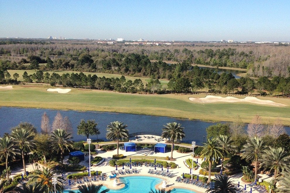 The view from a room at the Ritz-Carlton Grande Lakes Orlando