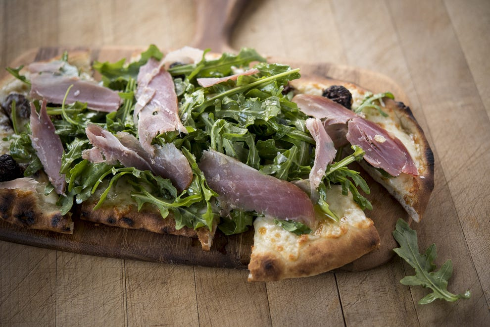 Prosciutto and arugula pizza changes up the game at Safeco this season
