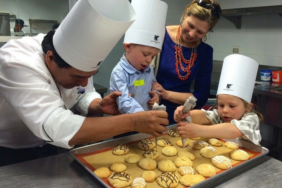Kids learn to make quinoa cookies at this foodie escape