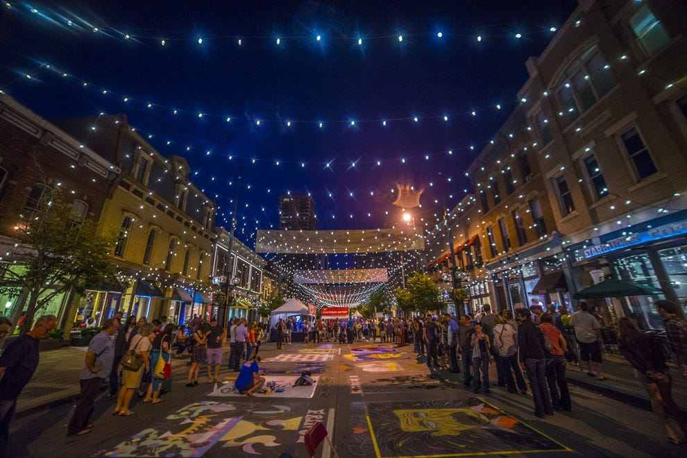 Chalk art festival turns denver streets into public art space for Craft stores denver co