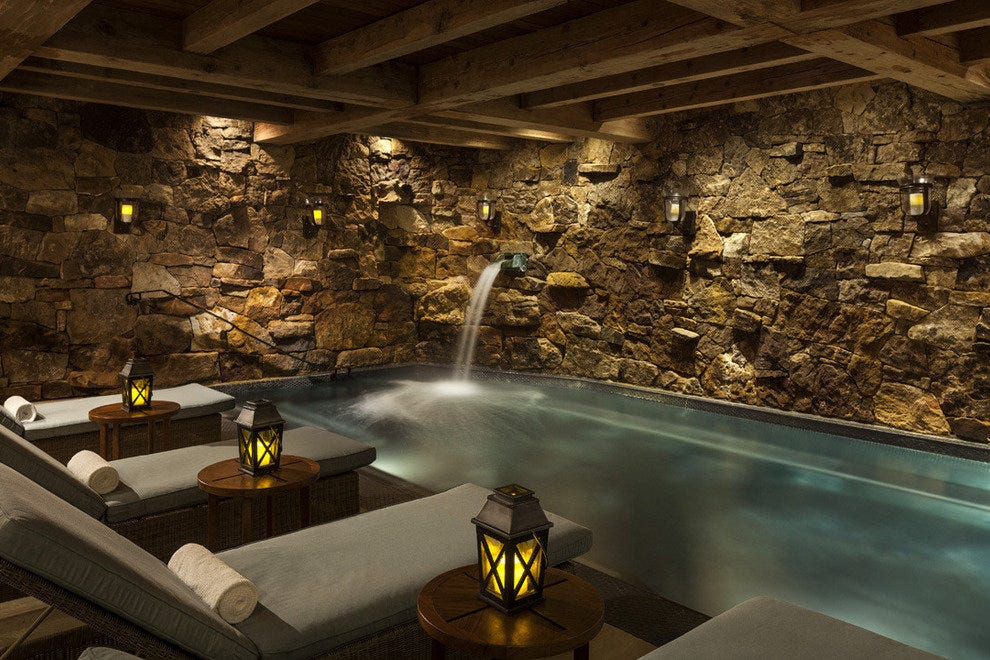 The grotto in the spa at the Ritz-Carlton Bachelor Gulch has special family hours