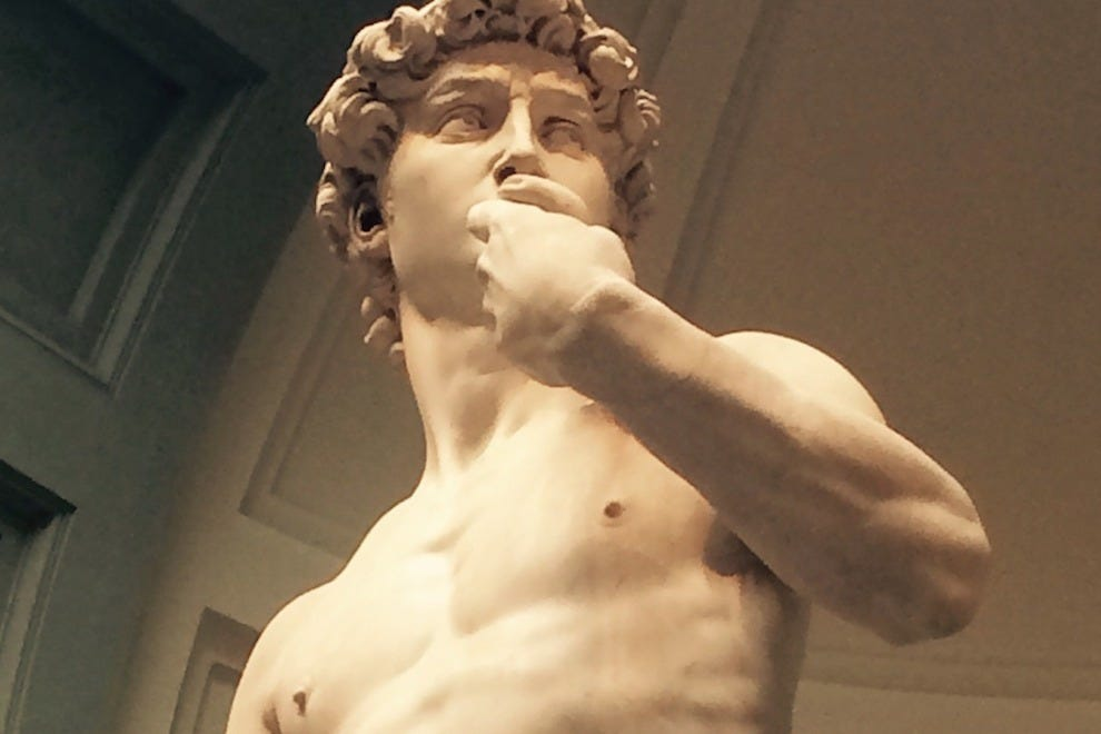 "A view of the spectacular ""David"" by Michelangelo"