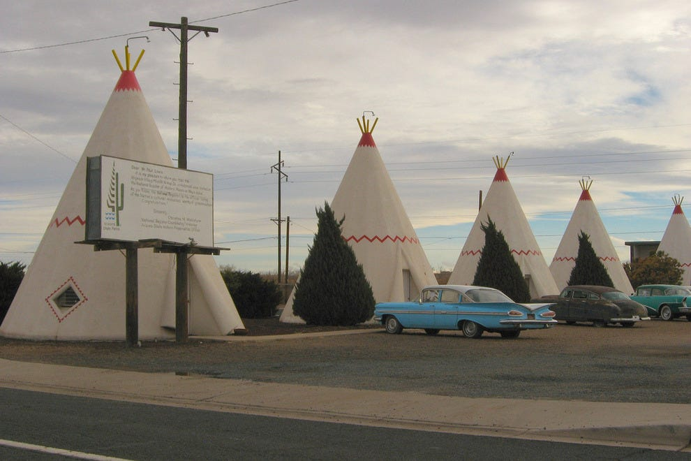 Stay in a teepee in Wigwam Village