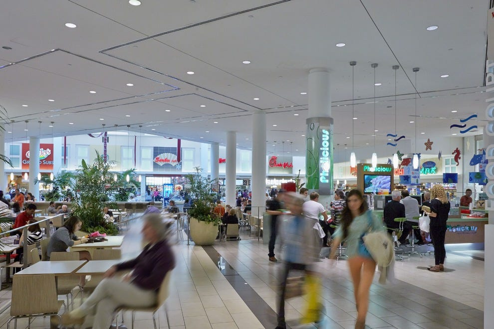 Shoppers can stop at the food court for a variety of quick dining options