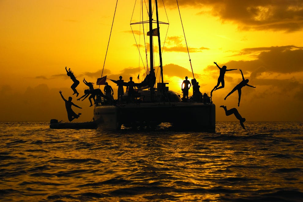 Young Voyagers sailing into the sunset