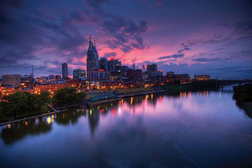 The Nashville skyline enchants locals and visitors alike.