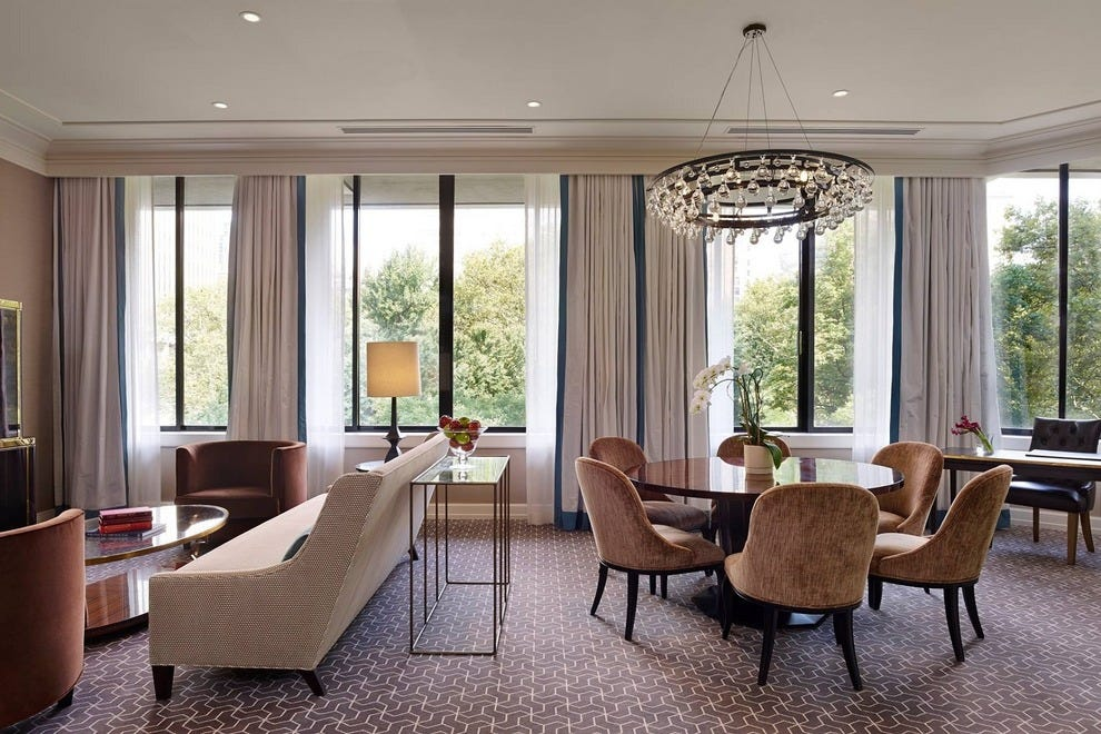 The Rittenhouse's incredible Park Suites allow guests to relax in luxurious comfort in the heart of the city