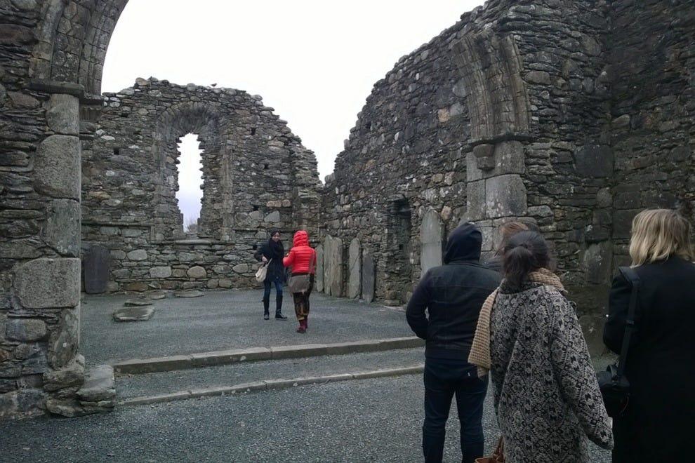 """早期基督教""""寺院Glendalough""""城市"""