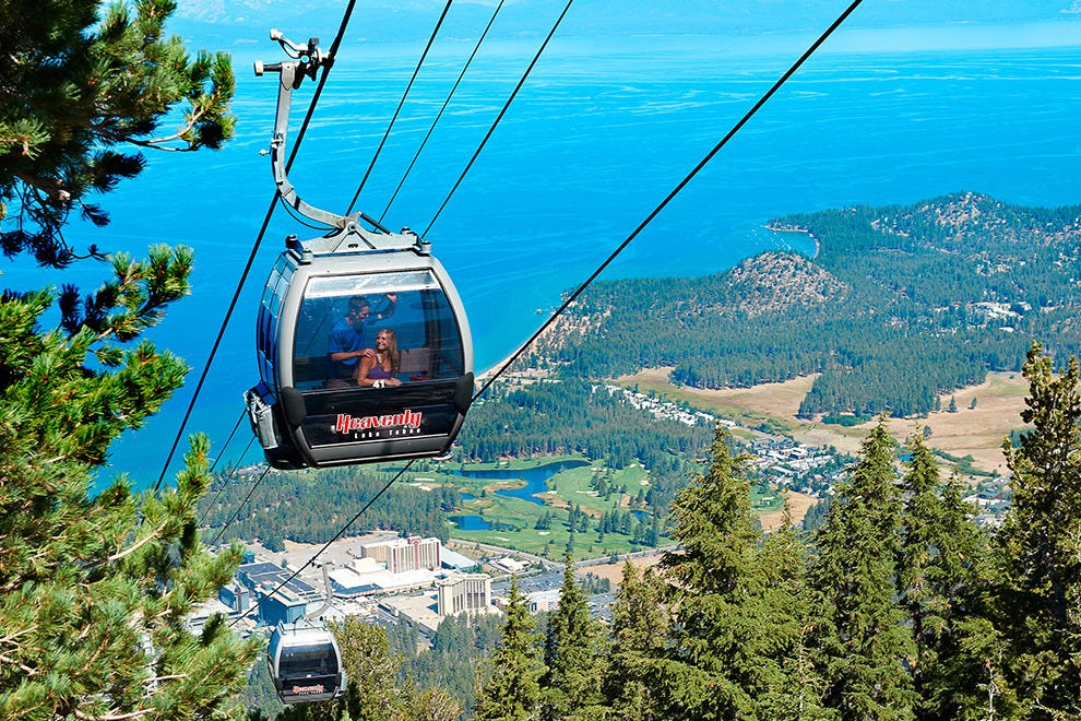 The Heavenly Gondola offers 360-degree views of the lake