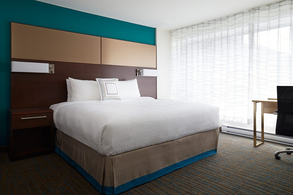 Residence Inn Montreal Downtown's redesigned rooms look clean and modern
