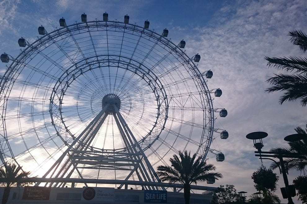 Orlando's newest icon, the 400-foot Orlando Eye, has 30 capsules that hold up to 15 passengers each