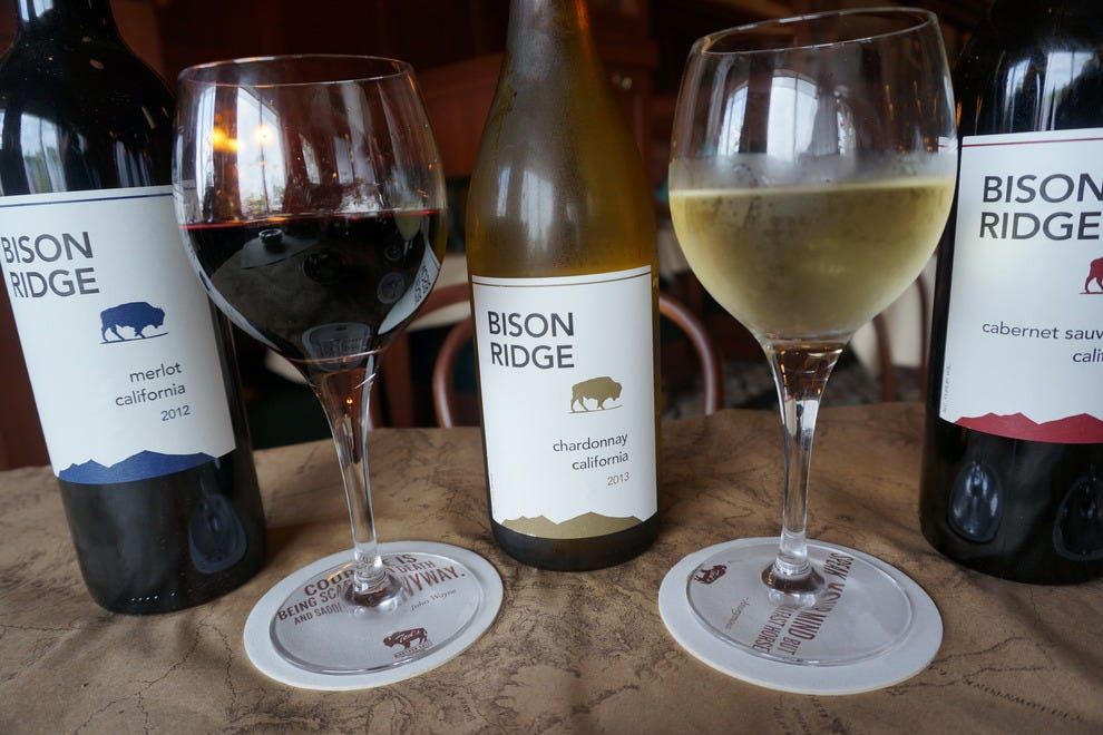 Bison Ridge wine is exclusive to Ted's Montana Grill