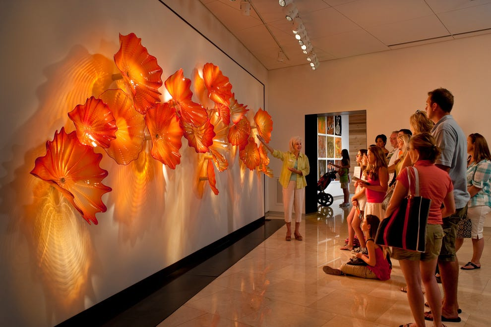 "Dale Chihuly's ""Sunset Persian Wall"" at the Morean Arts Center's Chihuly Collection"