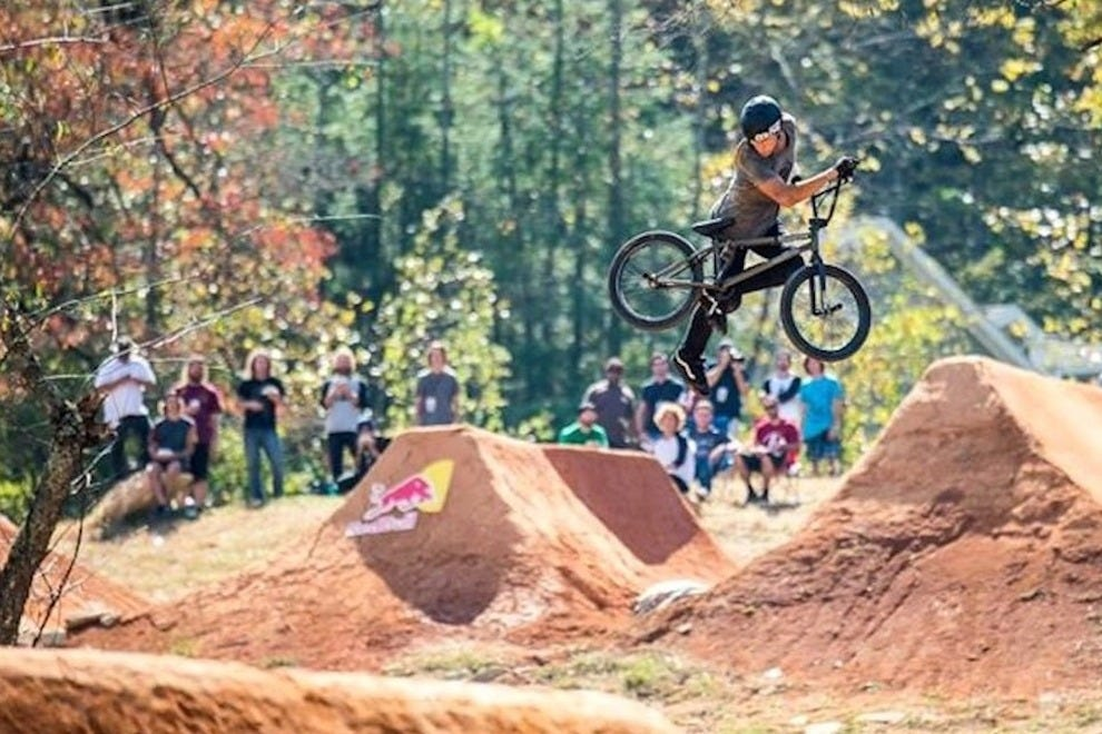Flying high at the Lyons' bike park