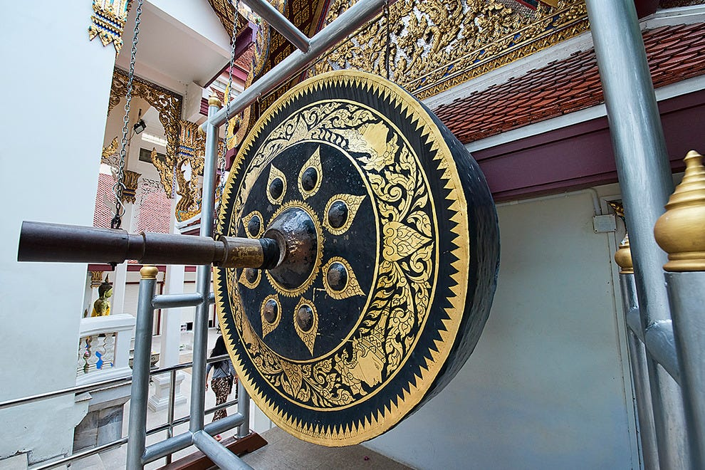 Giant gong at the Golden Mount