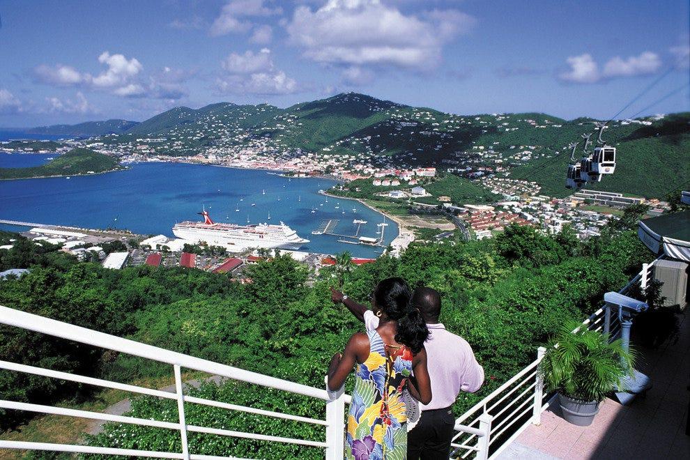paradise point st thomas skyride u s virgin islands attractions