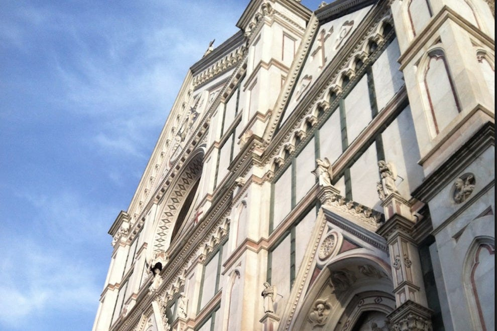 A view of Santa Croce's unique facade