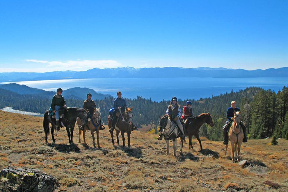 The Tahoe Rim Trail can be covered by horseback