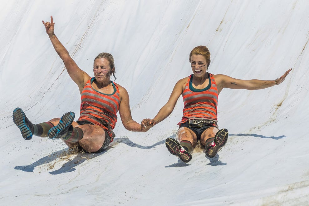 These women are kicking butt at the most important part of the competition – enjoying themselves