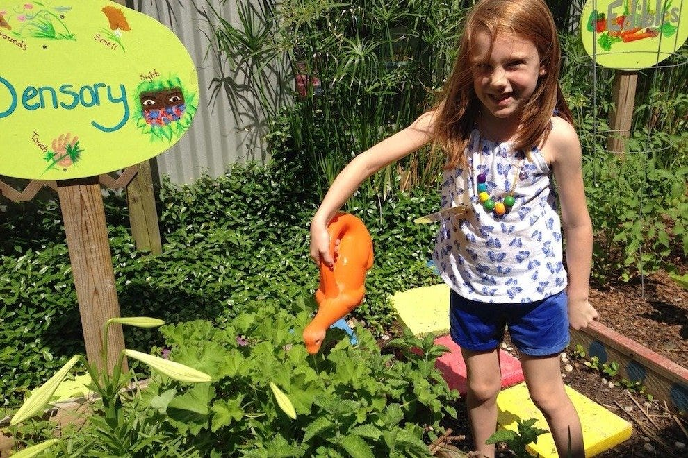 Kids can tend to the museum garden and even take home what they harvest!