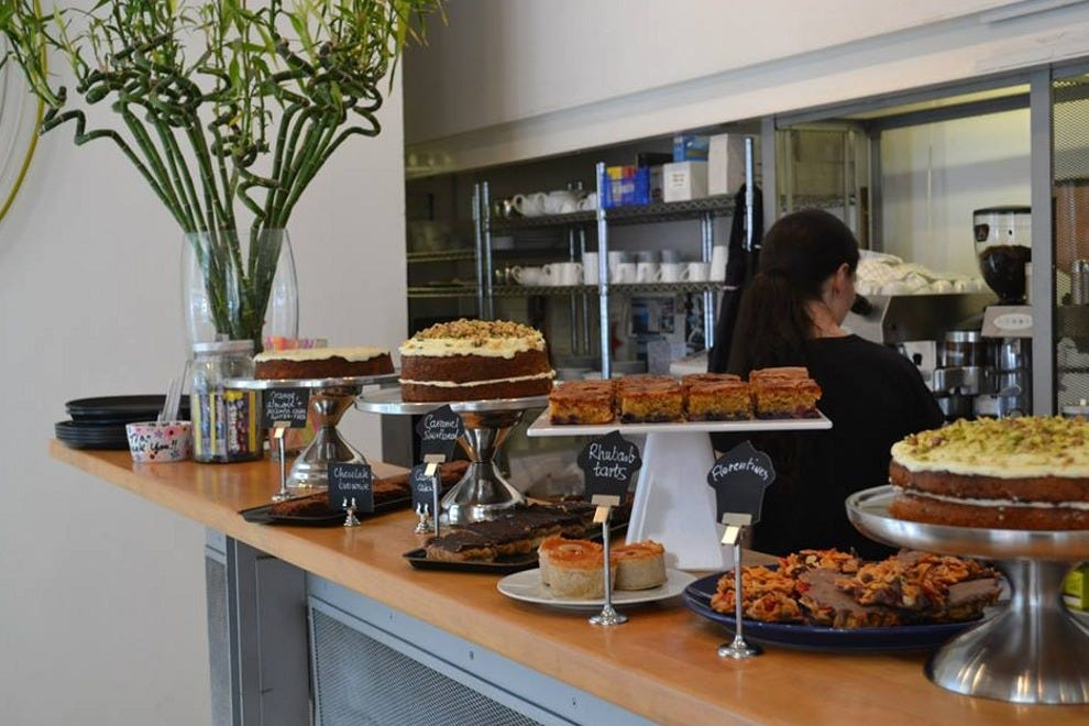 Delicious cakes in the cafe of The Fruitmarket Gallery