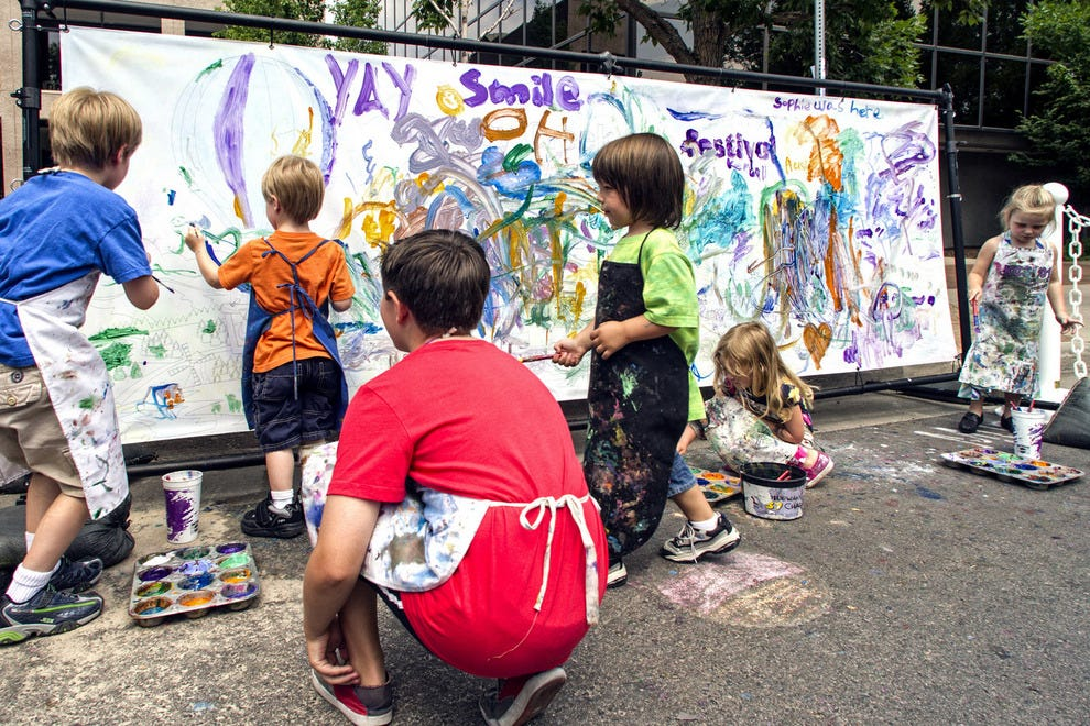 The festival includes activities for families and kids, including a chance to be creative