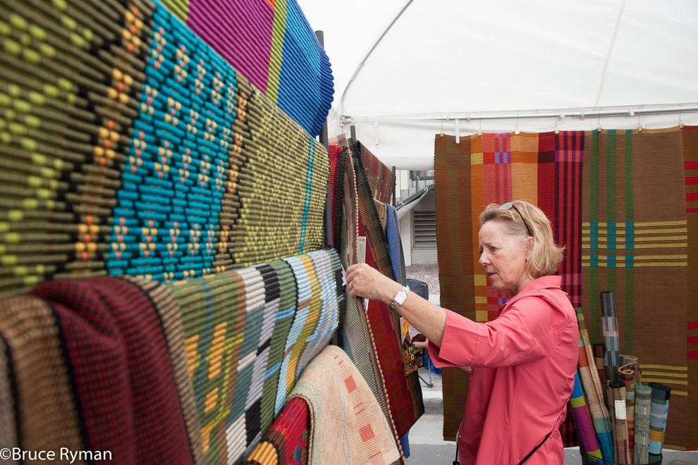 Fiber arts bring vibrant color and texture to a home, and the Cherry Creek Arts Festival is an excellent place to find just the right piece