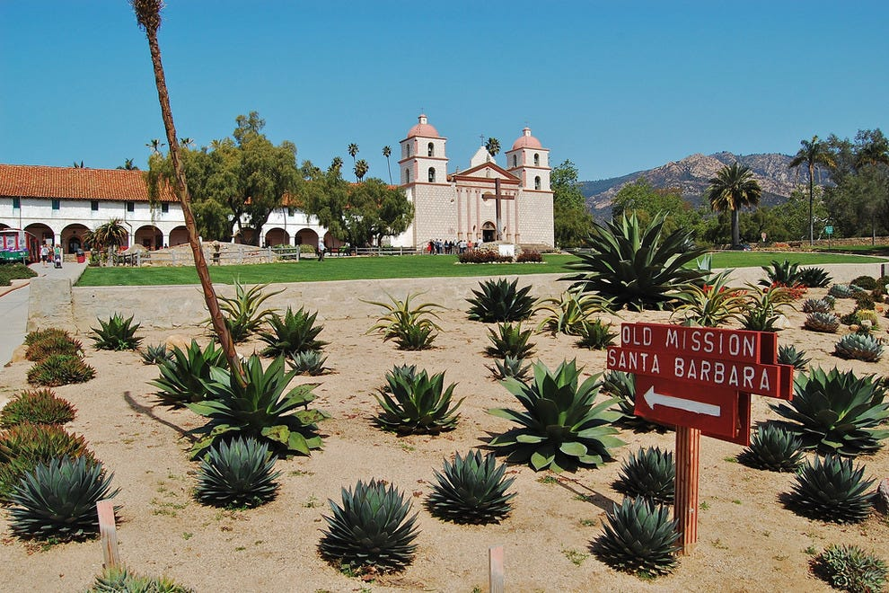 "Old Mission Santa Barbara is known as ""Queen of the Missions"" for her graceful beauty"
