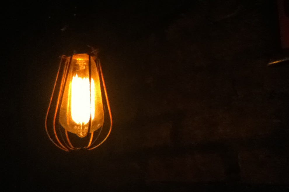 A lightbulb at Victoria Brown