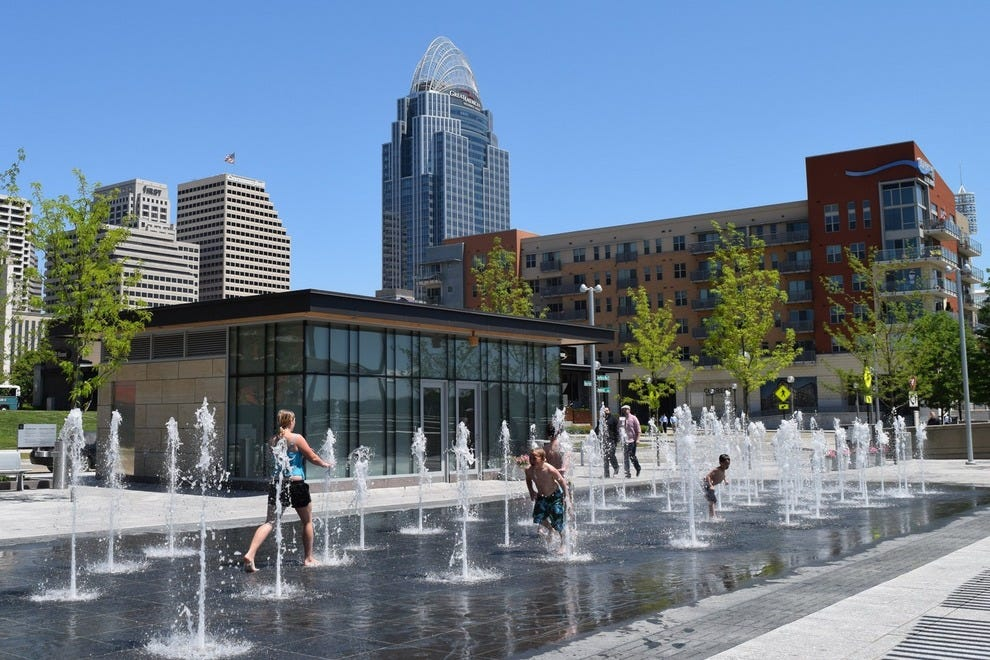 Fountains at Smale Riverfront Park