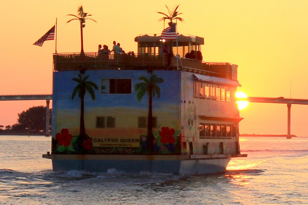 "Set sail for sunset on the ""Calypso Queen"""