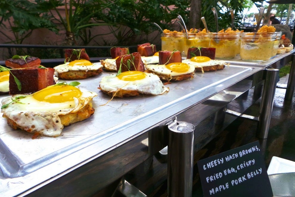 Try one of the many delicious breakfast items during the Sunday brunch at The Vinoy