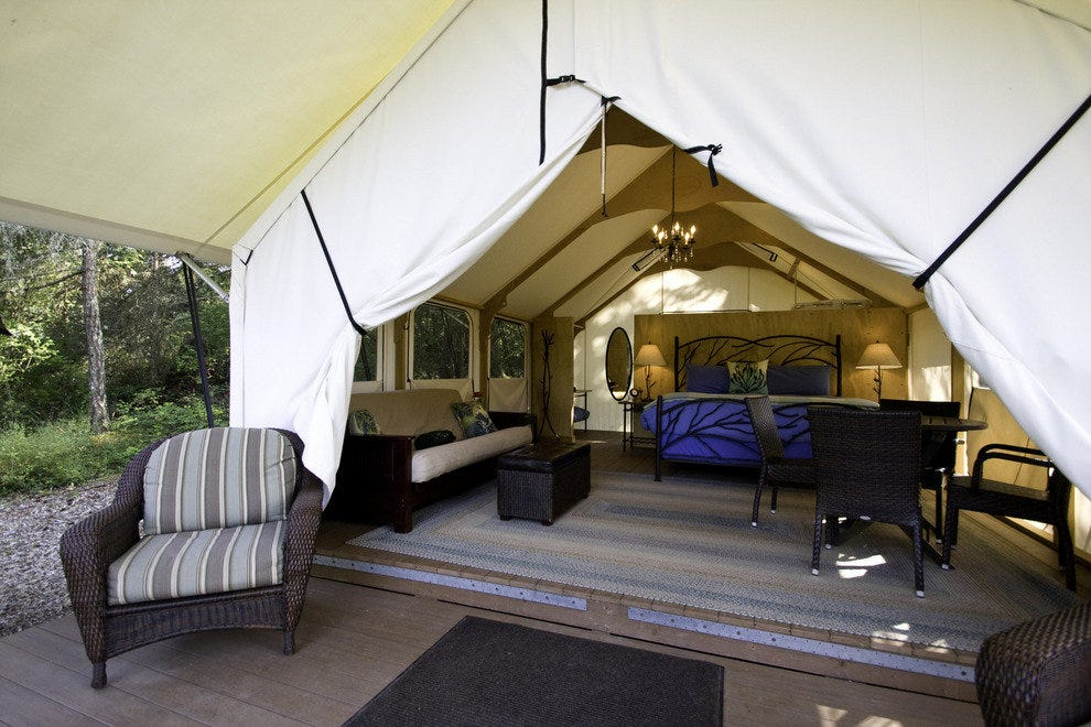 "Gourmet glamping at Lakedale Resort is a bucket list ""must"""