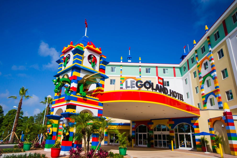 Brick-tastic! The LEGOLAND Florida hotel entrance is about a minute's walk from the park entrance