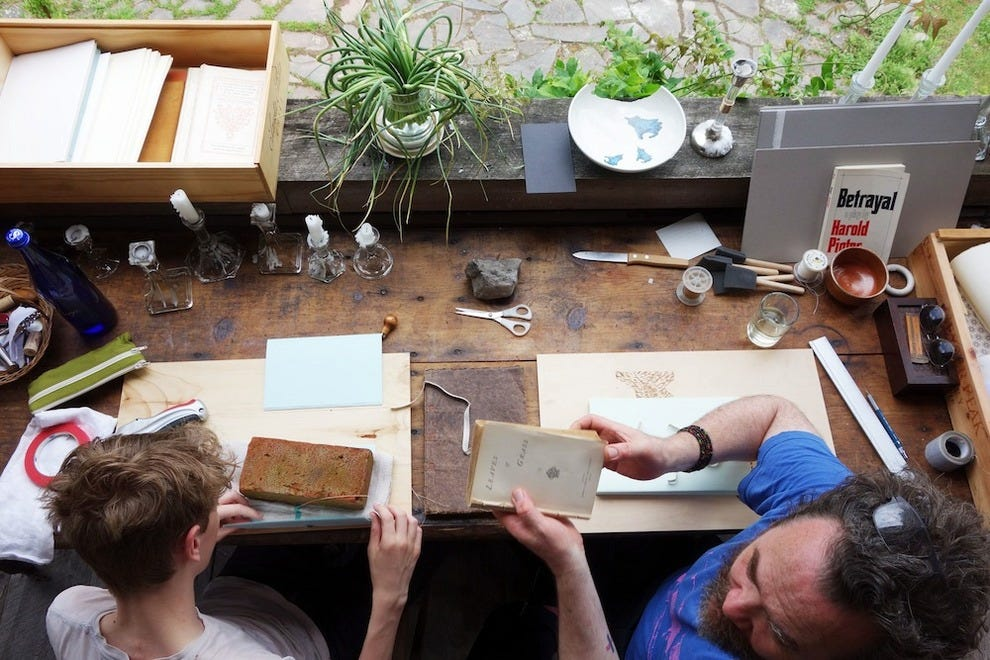 Bookbinding at Salt and Cedar