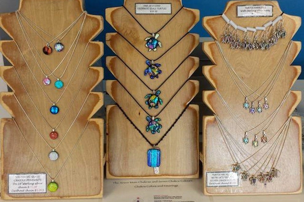 Necklaces made by RJK Studio in Cocoa