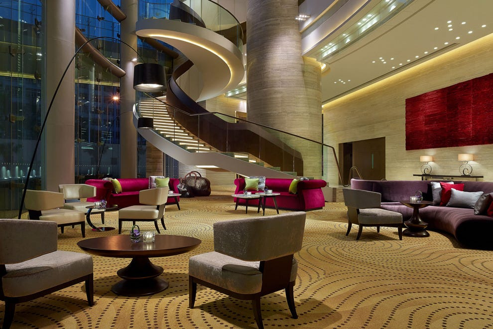 The Crowne Plaza Hong Kong Kowloon East's lobby provides a fitting introduction to the hotel