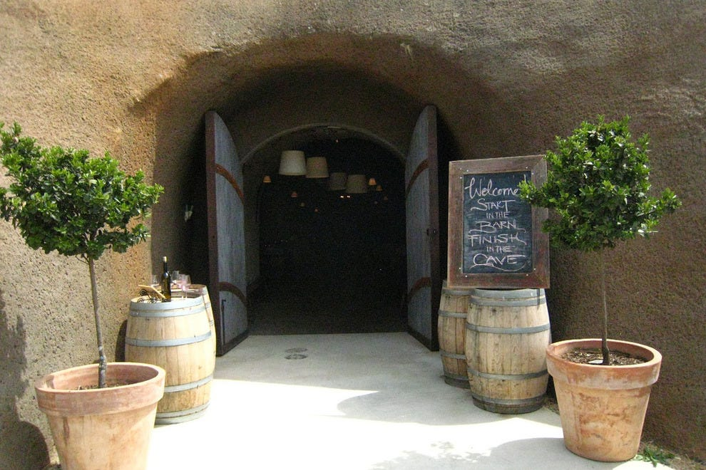 Bella Vineyards' cave